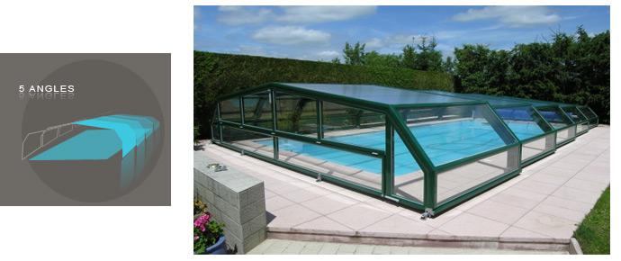 Abri de piscine bas plat ou angulaire for Piscine du nord