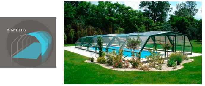 Abri de piscine interm diaire semi haut coulissant for Piscine du nord