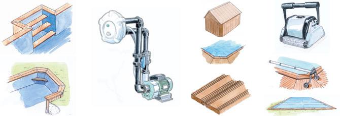 Piscine bois sur mesure personnalisable for Accessoire piscine 62