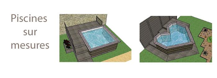 Mod les piscines en bois la gamme standard piscine du nord for Piscine carre bois