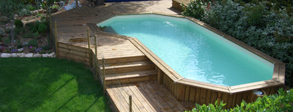 Piscine bois semi enterr e leroy merlin piscine bois for Piscine coque hors sol