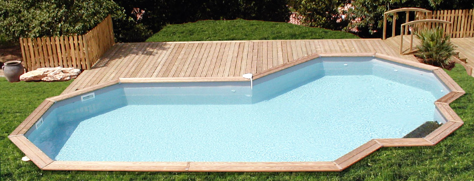Piscine en kit piscine pr te plonger piscine du nord for Piscine kit en bois