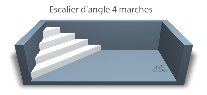 Escalier d'angle 4 marches