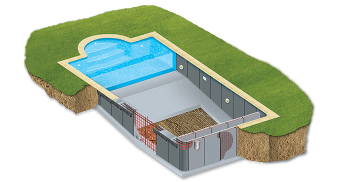 Piscine b ton en panneaux industrialis s for Piscine everblue