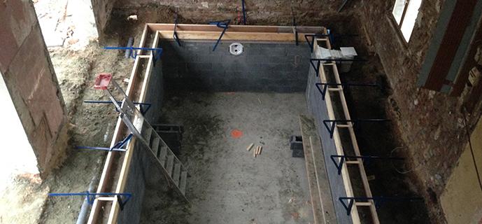Cha nage b ton de piscine for Ceinture beton piscine