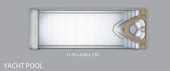 piscine avec spa int gr yacht pool. Black Bedroom Furniture Sets. Home Design Ideas