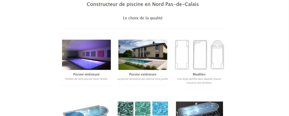 Plan du site piscine du nord for Constructeur de piscine