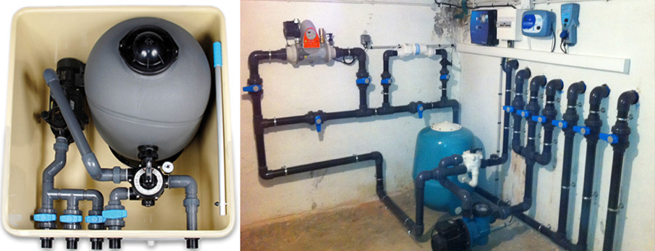 Changement de filtration piscine d placement de local for Filtration piscine a debordement