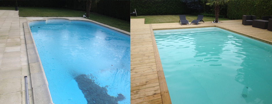 Reparation piscine beton for Algues brunes piscine