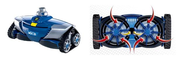 Robot de nettoyage lectrique ou hydraulique for Robot piscine prise balai