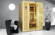 Cabine infrarouge compact